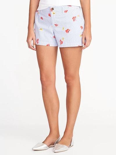 Mid-Rise Everyday Khaki Shorts