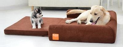 LaiFug Orthopedic Memory Foam Folding Dog Bed