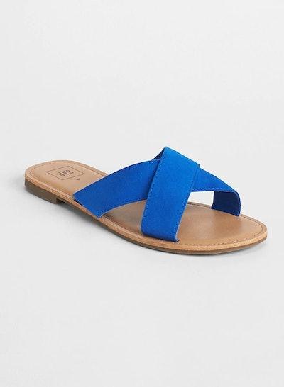 Crossover Slip-On Sandals
