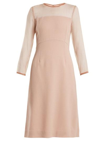 Flavia silk-crepe pencil dress