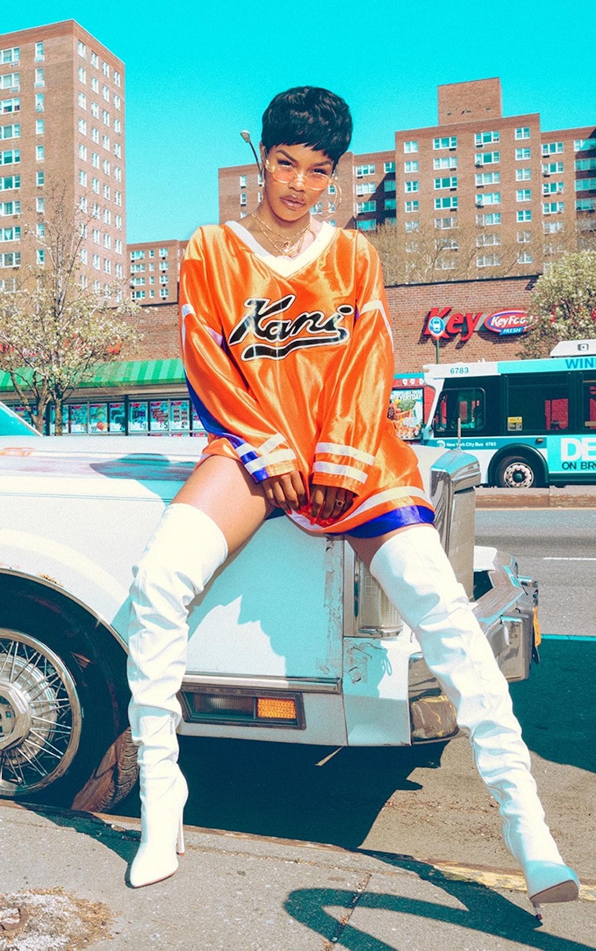 Karl Kani Orange Baseball Dress
