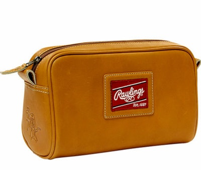 Premium Tan Baseball Glove Leather Travel Kit by Rawlings