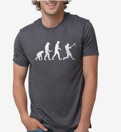Baseball Evolution Mens Tri-Blend T-shirt