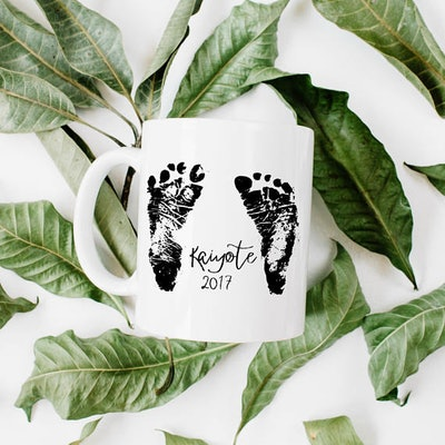 MGAPDX Personalized Handprint/Footprint Mug
