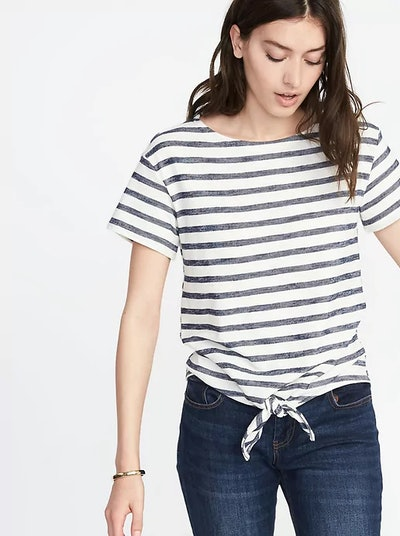 Relaxed Tie-Front Top for Women