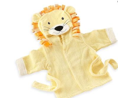 "Baby Aspen ""Big Top Bath Time"" Lion Hooded Spa Bathrobe"