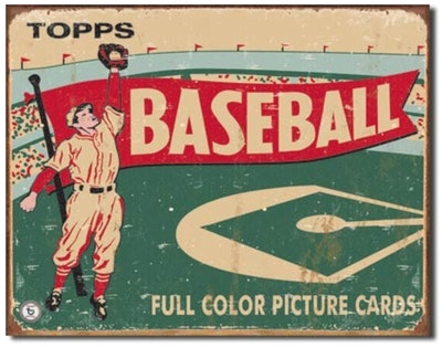 Topps 1954 Baseball Tin Sign