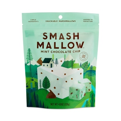 SmashMallow Mint Chocolate Chip Snackable Marshmallows