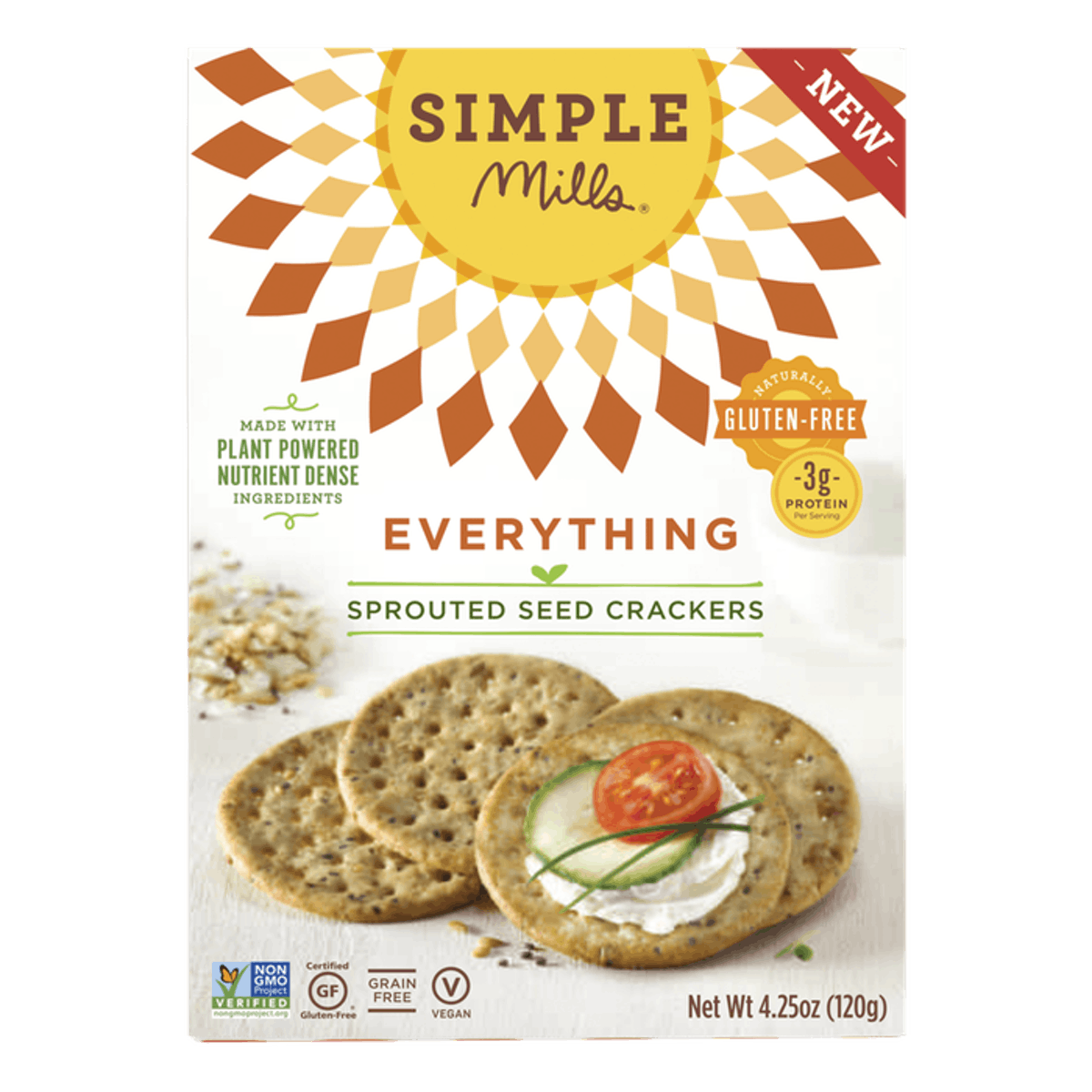 Simple Mills Everything Sprouted Seed Crackers