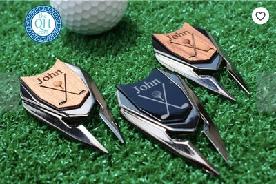 Groom & Guy Gifts Personalized Golf Ball Marker and Divot Repair Tool