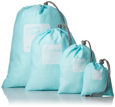 BINGONE Nylon 4-in-1 Drawstring Bags