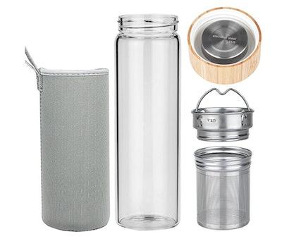 ORIGIN Fruit And Tea Infuser Borosilicate Glass Water Bottle