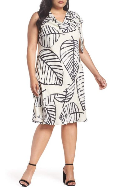 Nic + Zoe Etched Leaves Tie Dress