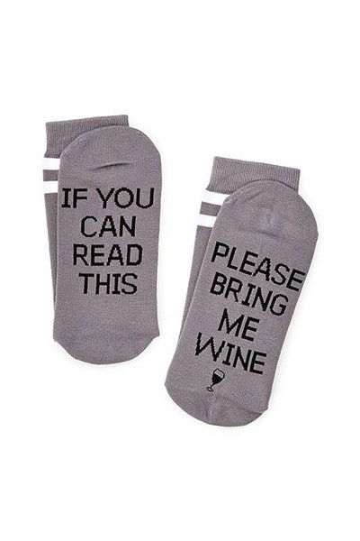 """Please Bring Me Wine"" Socks"