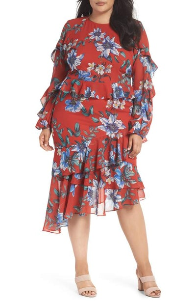 Cooper St Floral Asymmetrical Dress