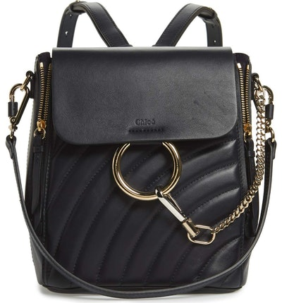 Chloé Small Faye Quilted Leather Backpack