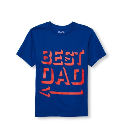Boys Daddy And Me Short Sleeve 'Best Dad' Matching Graphic Tee