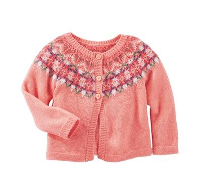 Baby Girl OshKosh B'gosh Fairisle Wool-Blend Cardigan