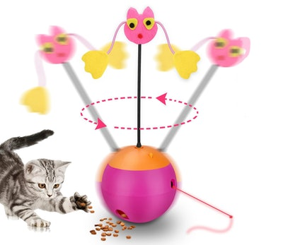 Yofun 3-In-1 Multi-Functional Spinning Cat Toy