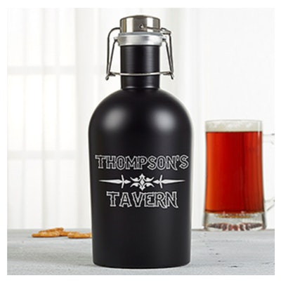 Just For Him Stainless Steel Personalized Growler