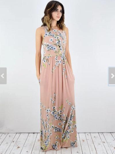 Eloges Vintage Floral Maxi Dress