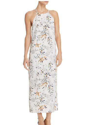 Aqua Floral Racerback Maxi Dress