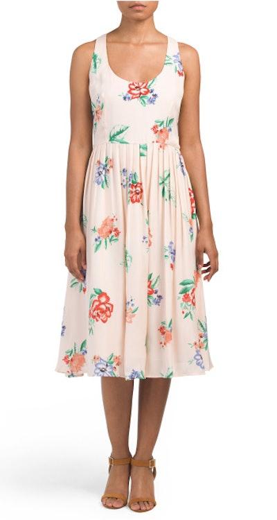 BB DAKOTA Juniors Heleen Midi Floral Dress