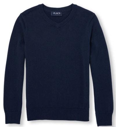 Boys Uniform Long Sleeve V-Neck Sweater