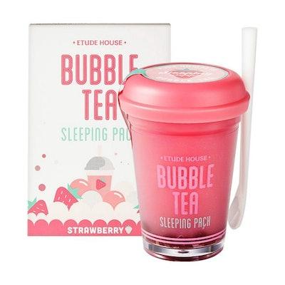 Etude House Strawberry Bubble Tea Sleeping Pack