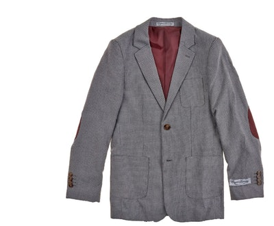 Boys Textured Knit Sports Jacket
