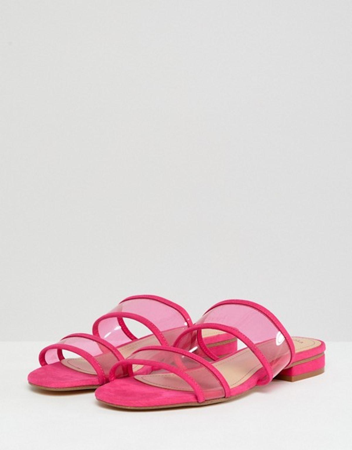 Bershka mesh strap flat sandals