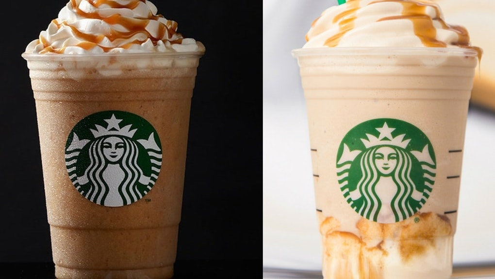 The Difference Between Starbucks Ultra Original Caramel Frappuccinos Is Obvious