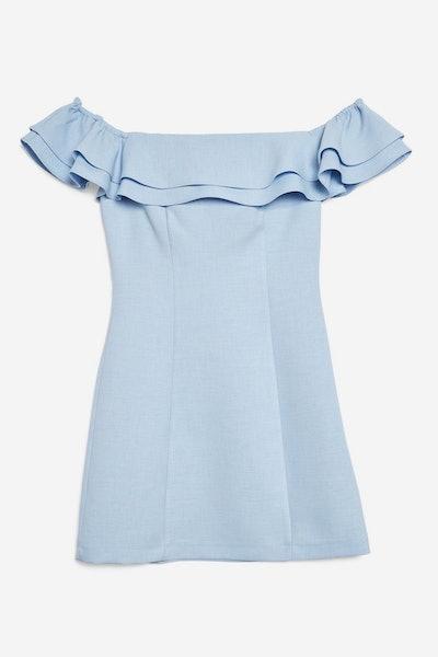Ruffle Mini Bardot Dress
