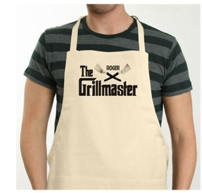 Personalized Cotton Twill Natural Color Grillmaster BBQ Apron