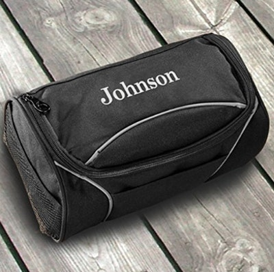 Personalized Clever Canvas Men's Travel Toiletry Bag