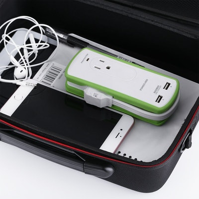Poweradd 2-Outlet Travel Surge Protector