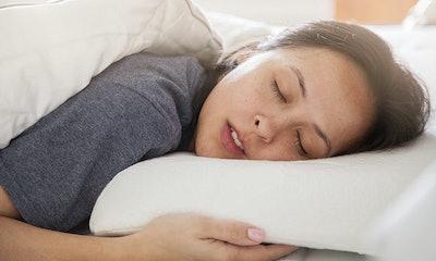 Belly Sleep, Gel Memory Foam Pillow For Stomach Sleepers