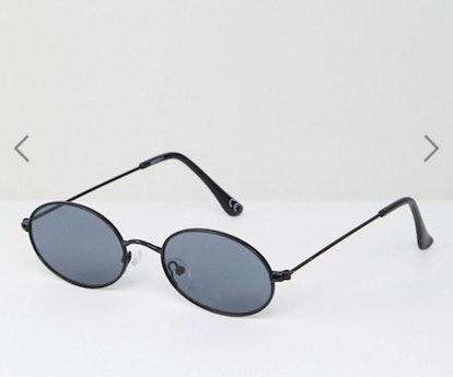 ASOS DESIGN Small 90S Oval Fashion Glasses