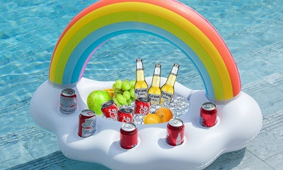 Jasonwell, Inflatable Rainbow Cloud Drink Holder