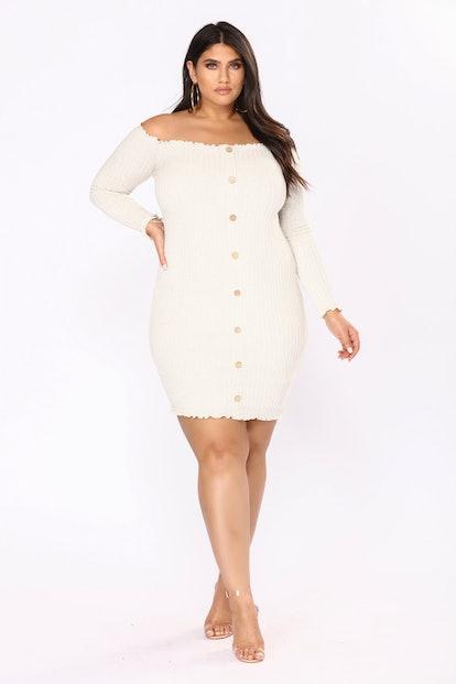 Jacklyn Off Shoulder Mini Dress