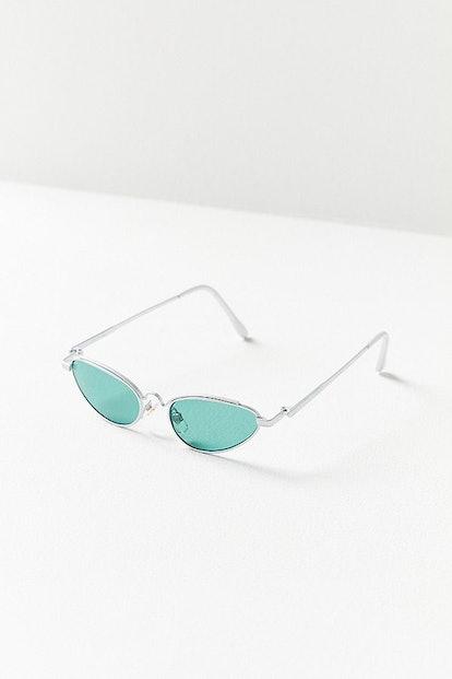 Vintage Misty Slim Oval Sunglasses