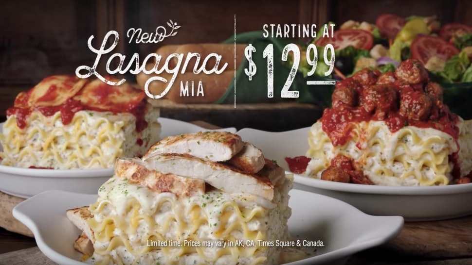Olive Garden S Create Your Own Lasagna Offers 4 Diffe Sauces 6 Toppings