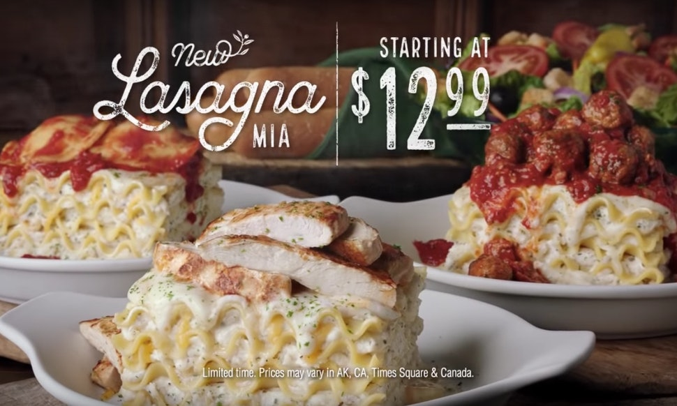 olive gardens create your own lasagna offers 4 different sauces 6 different toppings - Olive Garden Lasagna Recipe
