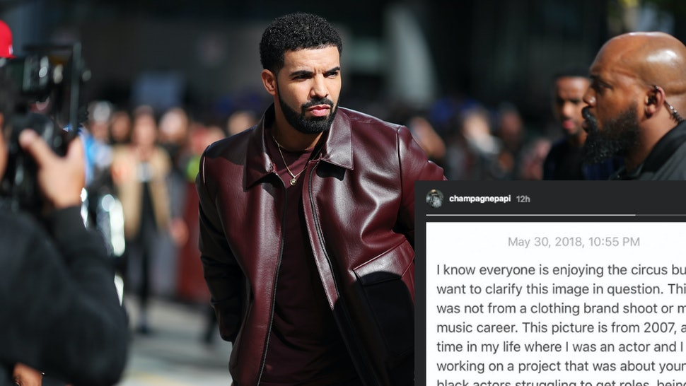 Drake's Explanation Of His Blackface Photo Breaks Down