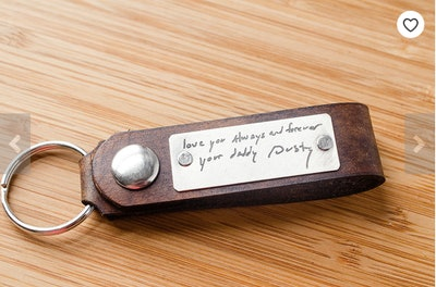 Porter and Hazel Handwriting Custom Snap Keychain