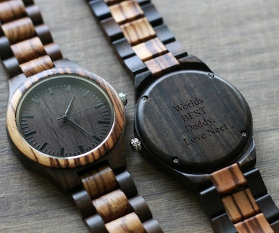 Wooden Watch | The Gavin Zebrawood + Ebony