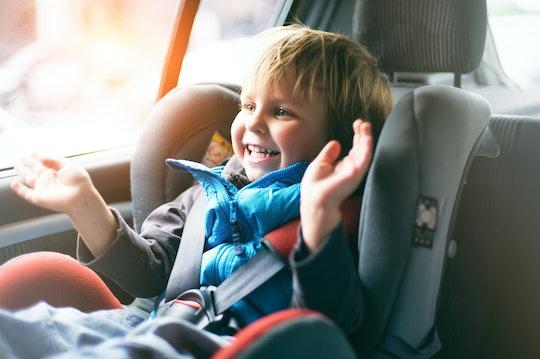 Rear toddler facing seat car Rear