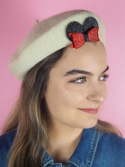 Mickey Ear Bow Beret