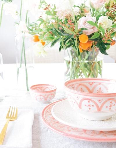 Blush Ceramic Salad Bowl
