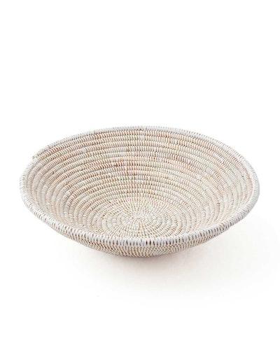 White Woven Fruit Basket